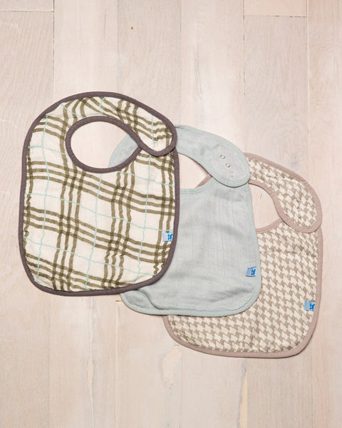 Curated Nest: Nurseries and Design - Deluxe Muslin Classic Bib - Houndstooth - Gifts