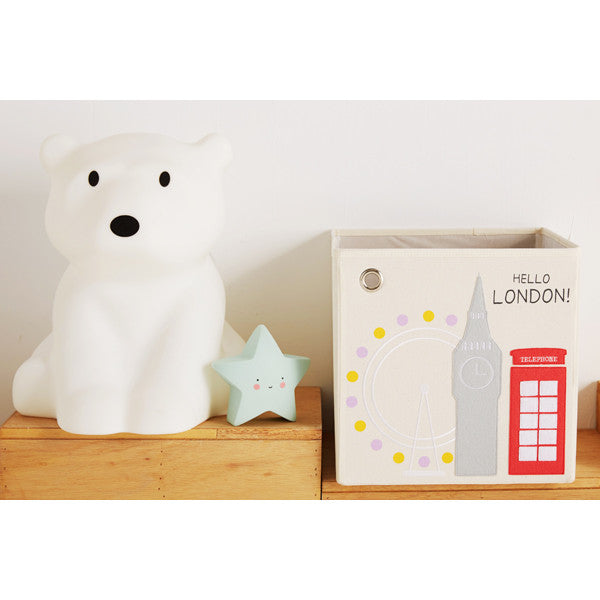 Canvas Storage Box - London