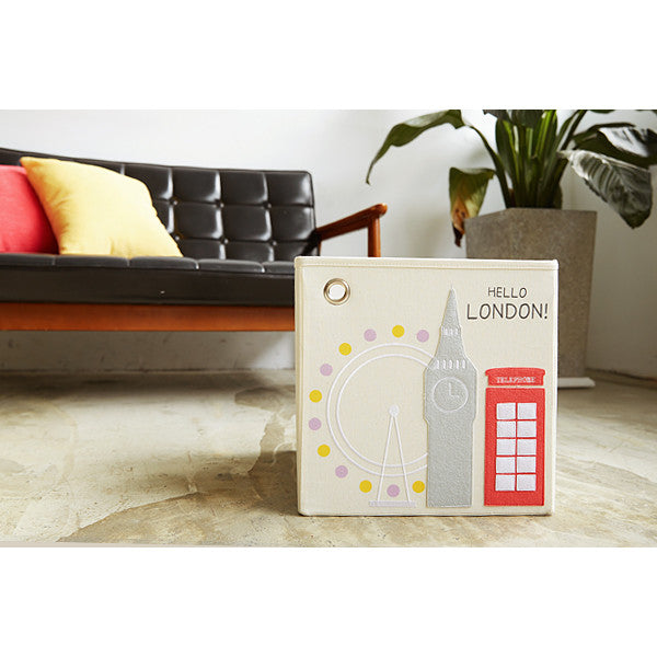 ... Curated Nest Nurseries and Design - Canvas Storage Box - London - Storage ...  sc 1 st  Curated Nest & Canvas Storage Box - London