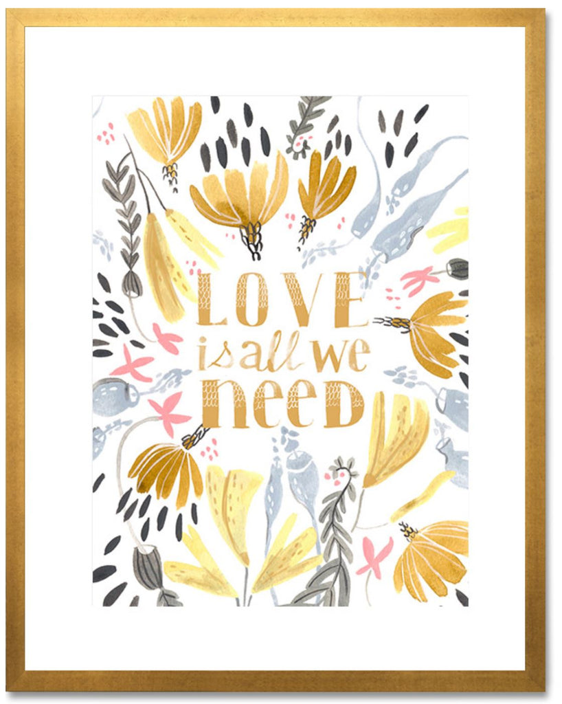 Curated Nest: Nurseries and Design - Love is All We Need Art Print - Art