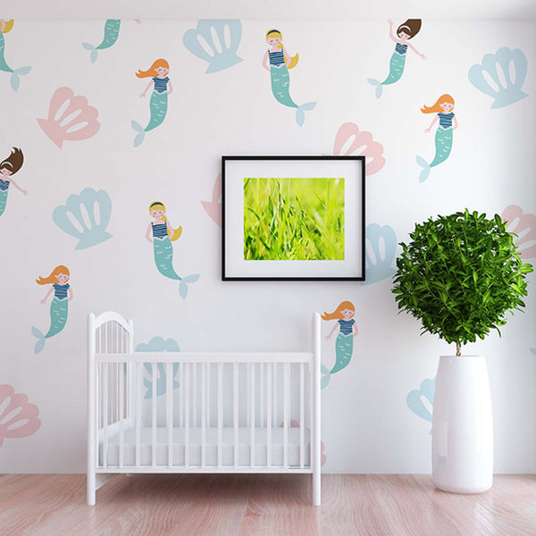 Curated Nest: Nurseries and Design - Ariel Decals - wallpaper