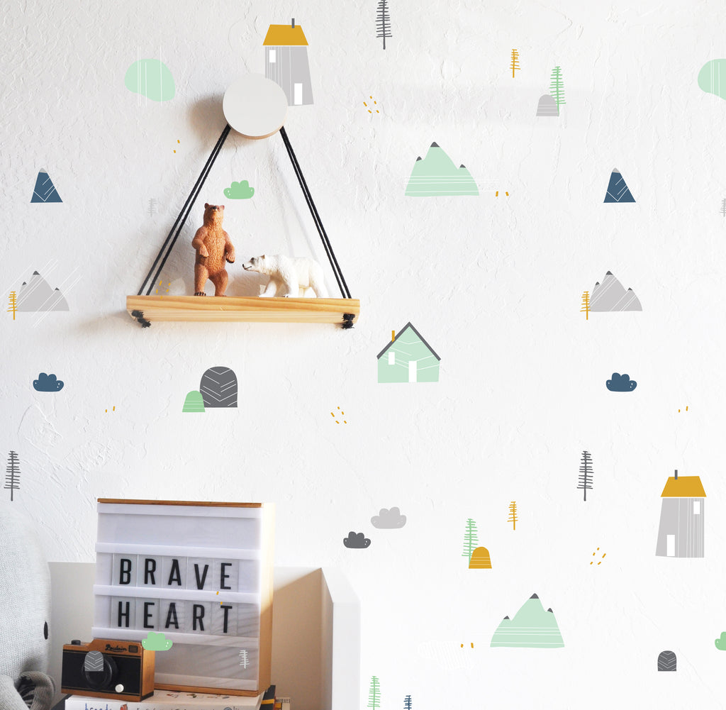 Curated Nest: Nurseries and Design - Mountain Retreat Decals - Decal