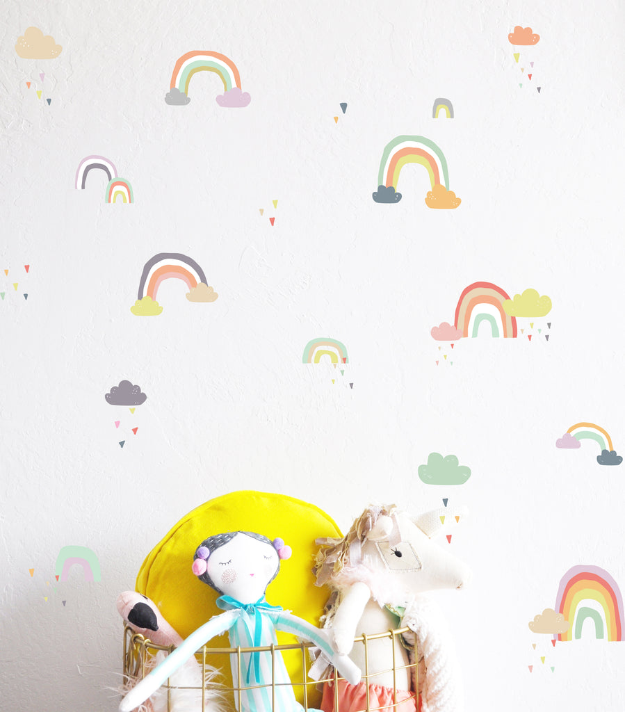 Curated Nest: Nurseries and Design - Rainy Rainbows Decals - Decal