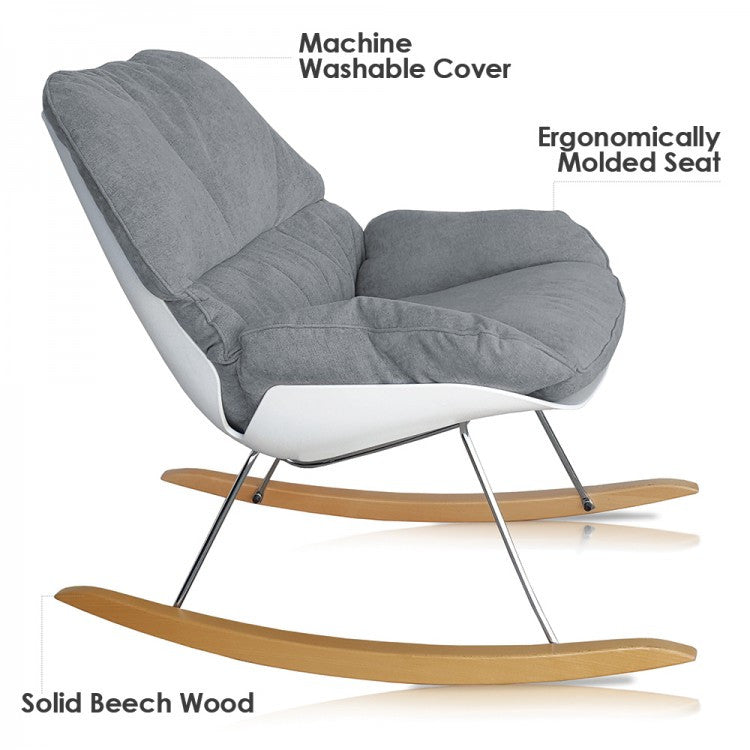 ... Curated Nest: Nurseries And Design   Contemporary Nursery Rocking Chair    Glider ...