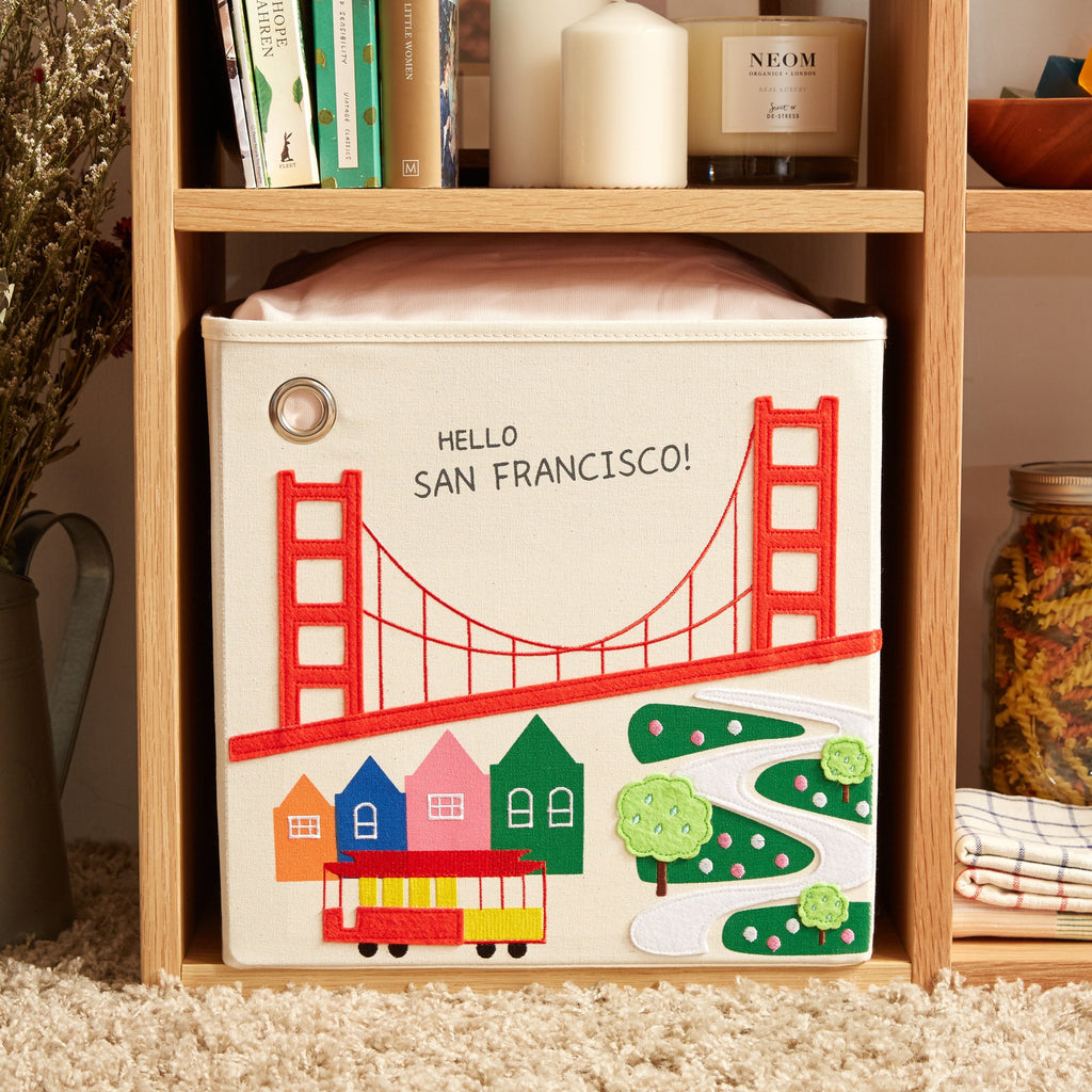 Curated Nest: Nurseries and Design - Canvas Storage Box - San Francisco - Storage
