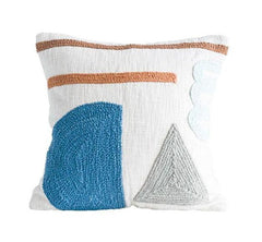 Modern Shapes Embroidered Pillow
