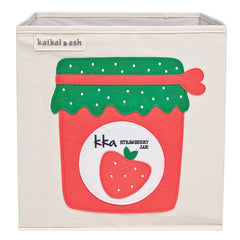 Canvas Storage Box - Strawberry Jam