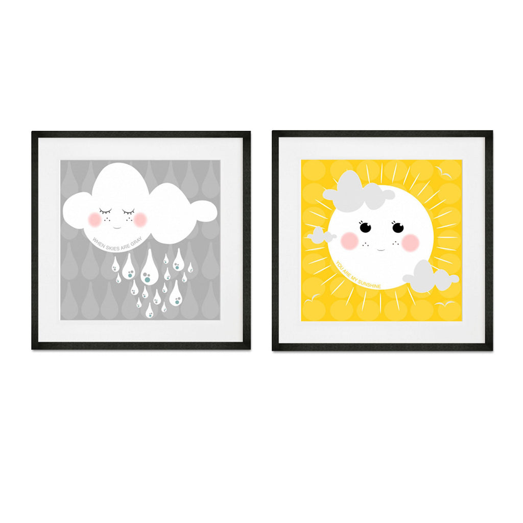 My Only Sunshine and Gray Clouds Set of 2 Print