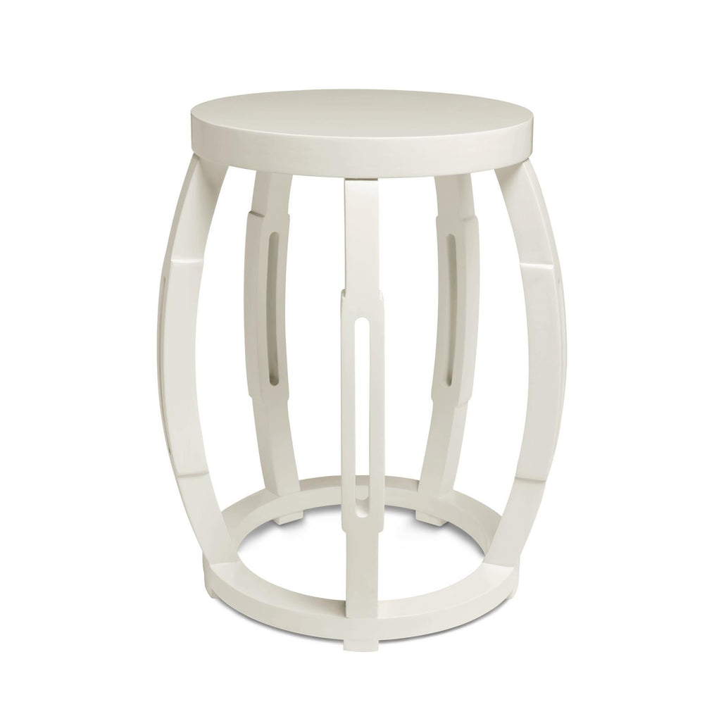 Taboret Accent Table - White