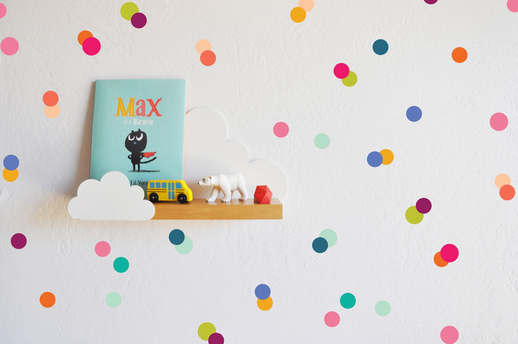 Curated Nest: Nurseries and Design - Rainbow Tiny Dots Decals - Decal
