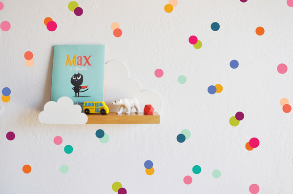 Rainbow Tiny Dots Decals