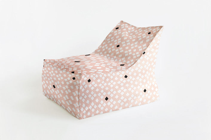 Curated Nest: Nurseries and Design - Diamond Back Triangle Chair - Beanbag