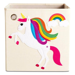 Canvas Storage Box - Unicorn & Rainbow