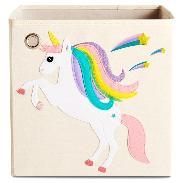 Curated Nest: Nurseries and Design - Canvas Storage Box - Unicorn & Shooting Stars - Storage