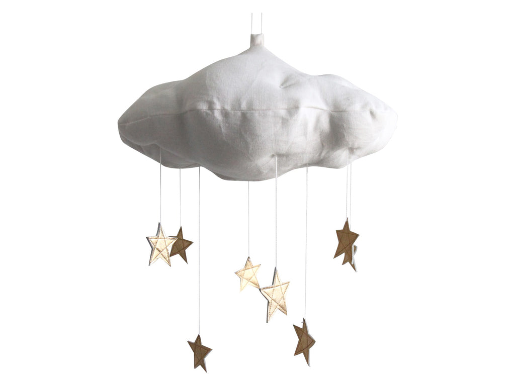 Curated Nest: Nurseries and Design - Luxe Cloud Mobile with Gold Stars - Accessories