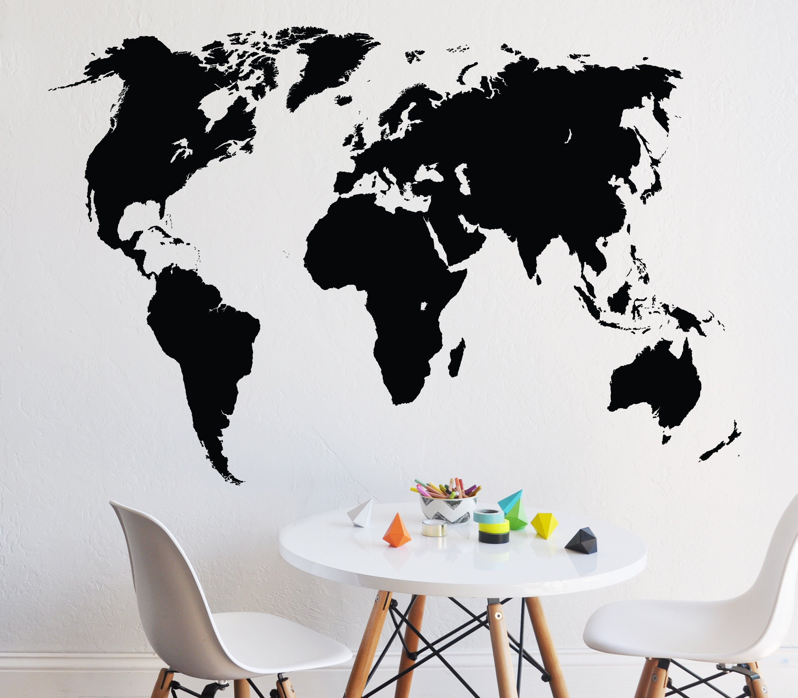 Chalkboard world map decal curated nest nurseries and design chalkboard world map decal decal gumiabroncs Images