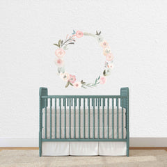 Blush Floral Wreath Decal