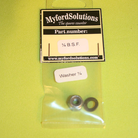 Myford series7 Simmonds nut 1/4 B.S.F. + Washer