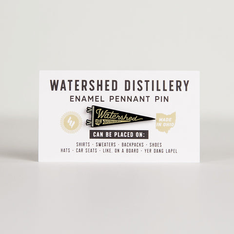 Watershed Pennant Enamel Pin
