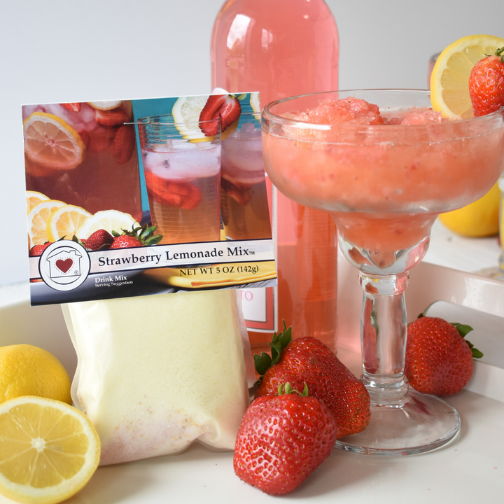 Strawberry Lemonade Moscato Slushie