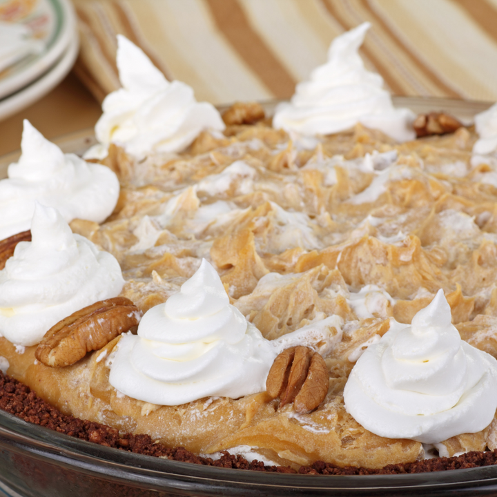 Peanut Butter Chocolate Chip Mousse Pie