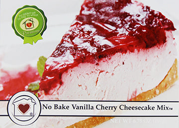 No-Bake Vanilla Cherry Cheesecake Mix