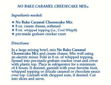 No-Bake Caramel Cheesecake Mix