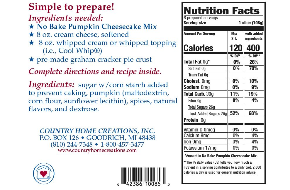 No Bake Pumpkin Cheesecake Mix Country Home Creations