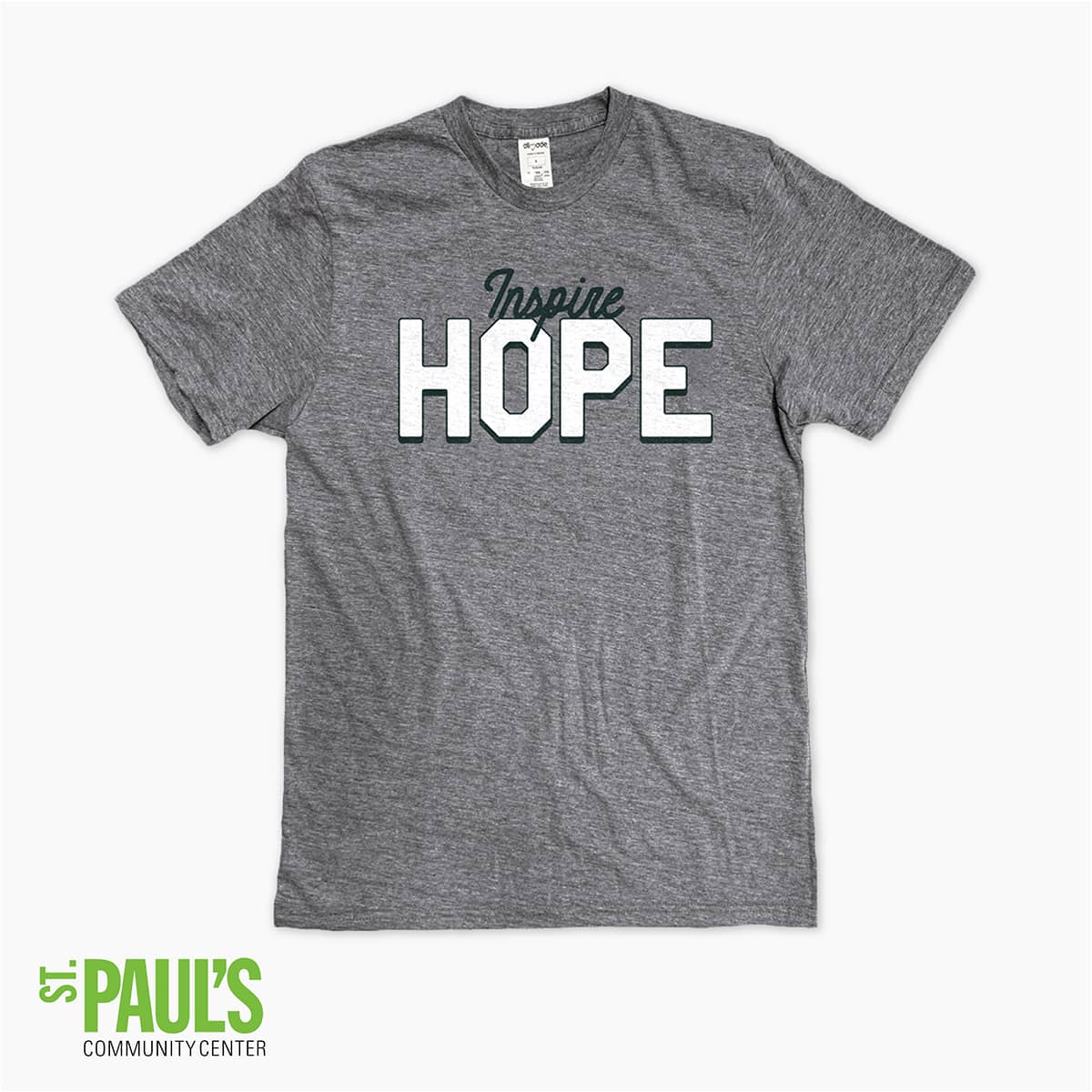 "Support St. Paul's Community Center with our ""Inspire Hope"" Community Shirt"