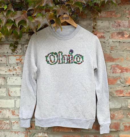 Floral Ohio Shirt and Crew Sweatshirt