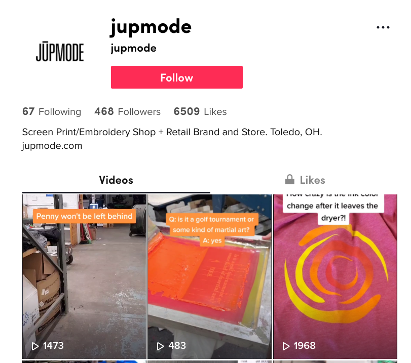 Follow Jupmode on TikTok