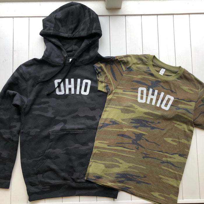 New release: Ohio and Midwest Camo Shirts and Hoodies
