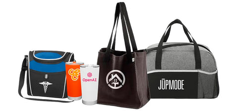 customizable coolers, tote bags and drinkware