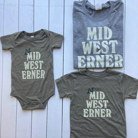 Baby, toddle, and adult matching apparel