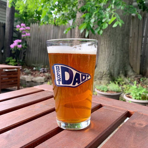 Best Dad Pennant Pint Glass