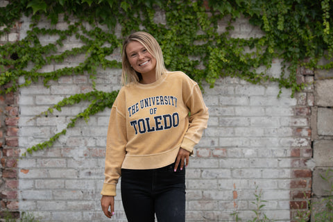 University of Toledo cropped crew sweatshirt