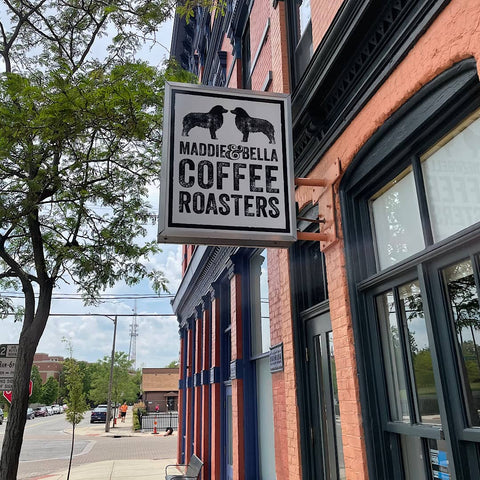 Front entrance of Maddie & Bella Coffee Roasters