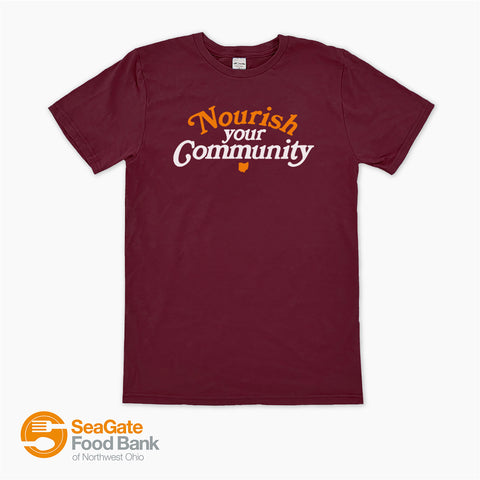 seagate food bank nourish your community fundraiser shirt from jupmode