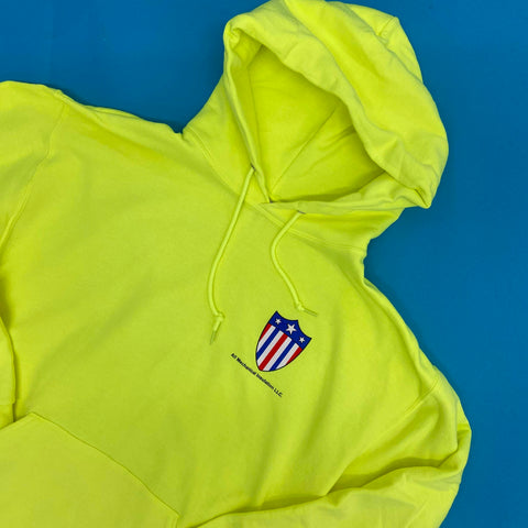 photo of custom screen printed safety hoodies for all mechanical insulation