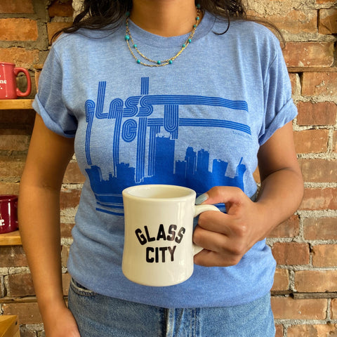 glass city coffee cup and shirt