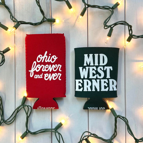 ohio and midwesterner koozies