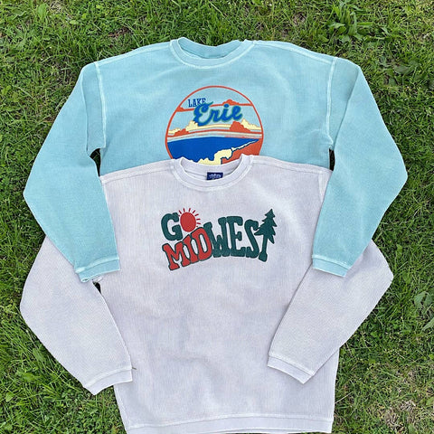 Product photo of Lake Erie and Go Midwest Corded Sweatshirt