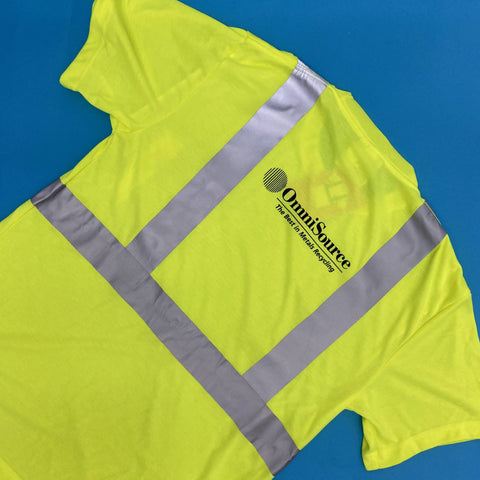 safety t-shirt with reflective stripes for omnisource
