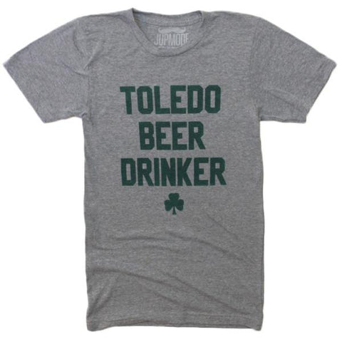 image of shirt laying flat that says toledo beer drinker