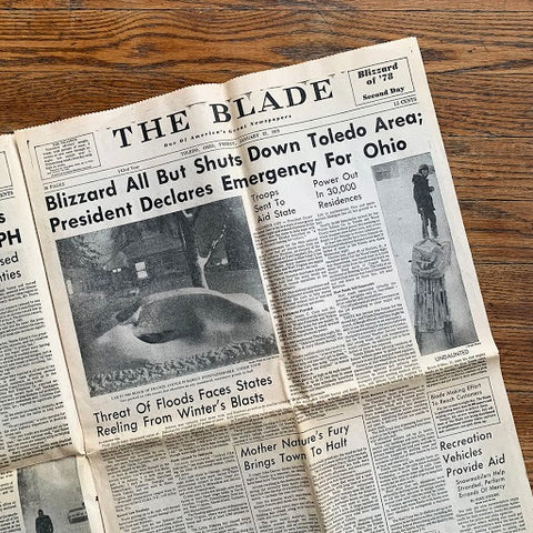 toledo blade article on the blizzard of 1978