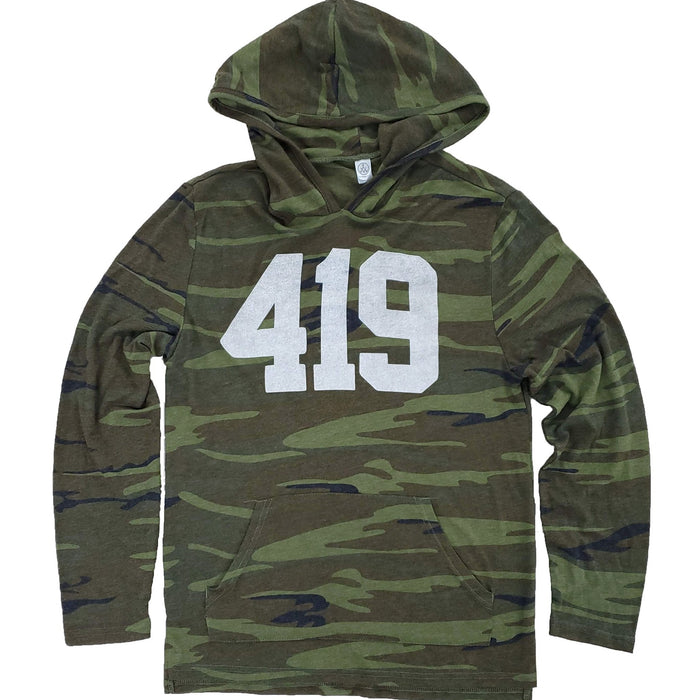 419 Long Sleeve Hooded Camo Shirt - Jupmode
