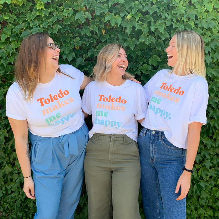 Toledo Makes Me Happy Cropped Shirt - Jupmode