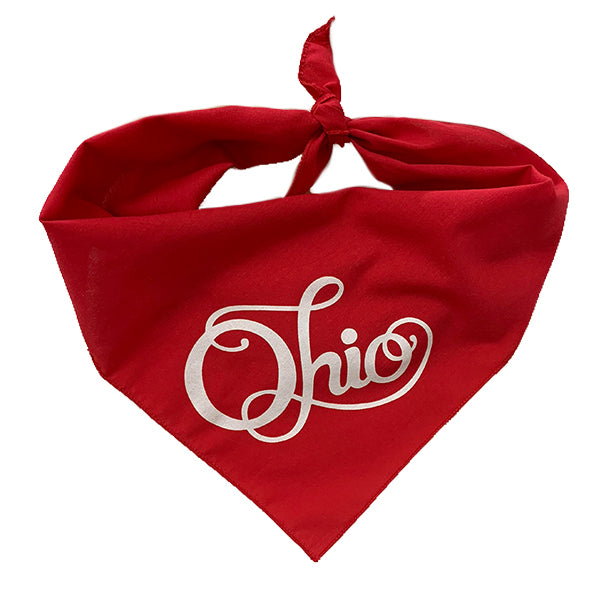 Fancy Ohio Dog Bandana