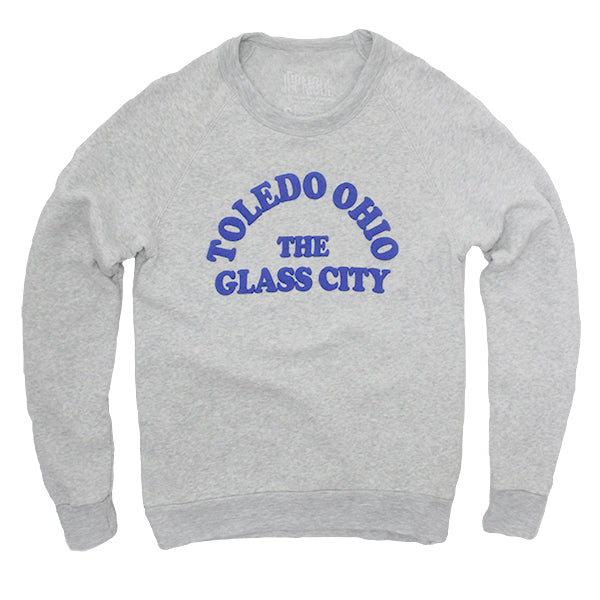Toledo, Ohio The Glass City Crew Sweatshirt