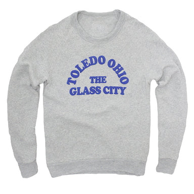 Toledo, Ohio The Glass City Crew Sweatshirt - Jupmode